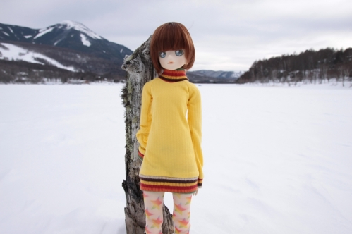 女神湖にて