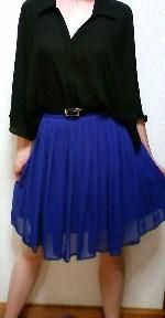 青スカート正面