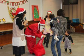 クリスマス会 サンタ登場