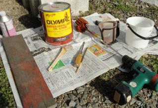 オリンピックステイン塗装セット