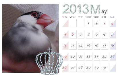 カレンダー:2013.05