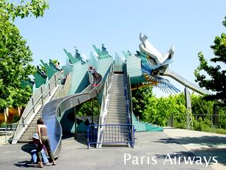 パリ ラビレット 滑り台