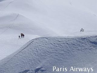 モンブラン 雪原