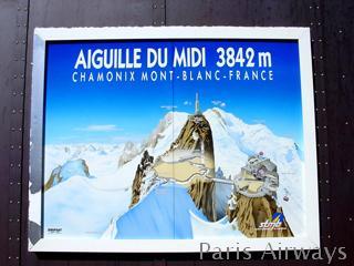 Aiguille du Midi 案内板 モンブラン