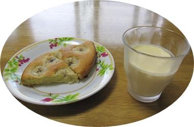 バナナケーキ&プリン