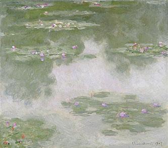 睡蓮、水の光景 1907