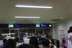那覇空港帰りの便