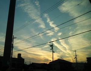 11.23の夕空