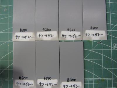 実験 表面処理 サフグレー一覧