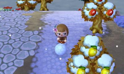 雪玉ころころ