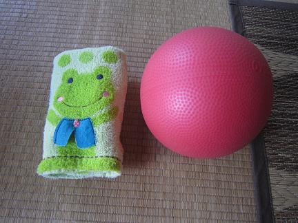 愛用タオルとボール