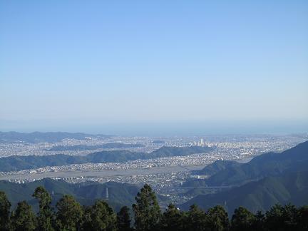 高山から望む