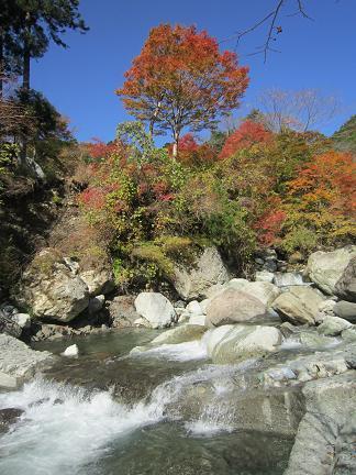 ふくし川渓谷と紅葉