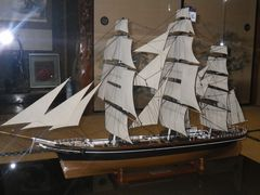 [写真]英国帆船カティーサークの模型