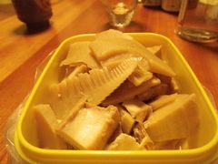 [写真]初物の筍と厚揚げの煮物