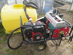 [写真]修理してもらった動力噴霧器