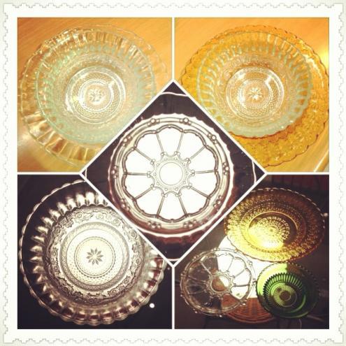 皿模様5枚、2