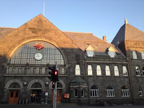 ベルゲン駅正面