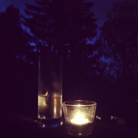 夜のキャンドル