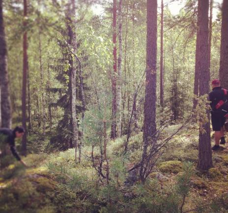 森の中Jari & Heli