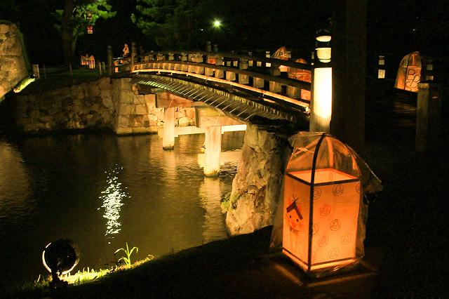 松江水燈路 堀 松江城 ライトアップ 灯籠