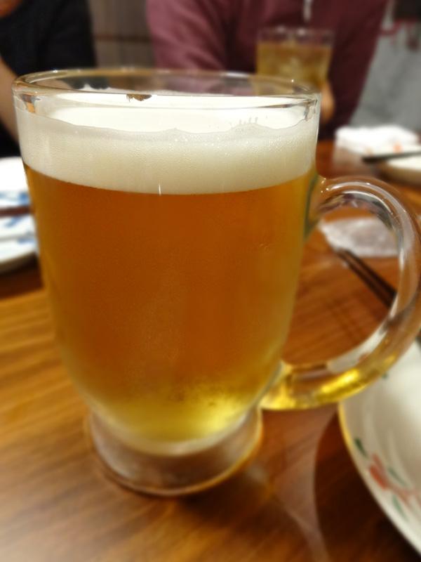 121123_天山温泉二次会01ビール