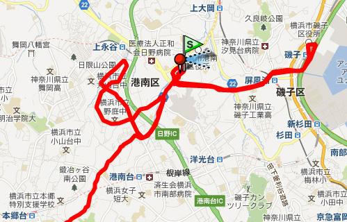 121224_クリスマス天丼ポタリング軌跡2