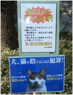 愛媛県松山総合公園とは?猫連続虐待死!両耳と脇腹を切られた猫が必死に餌場に!虐待あおる市の看板006