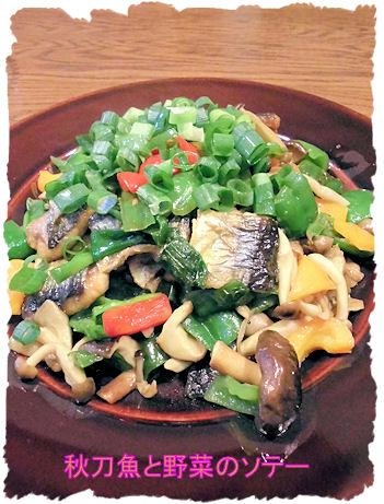 秋刀魚野菜