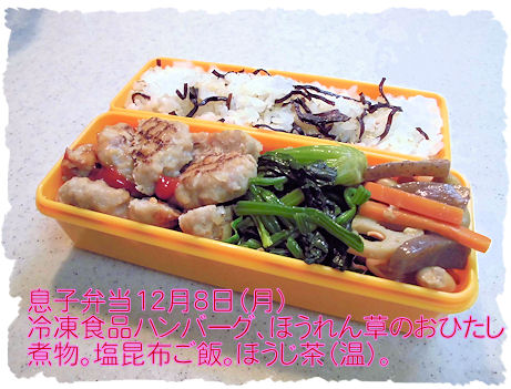 お弁当 冷凍食品も入れてつじつまを合わせました。