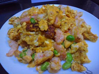 えびと枝豆の卵炒め