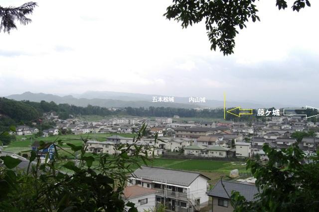 藤ヶ城遠景①