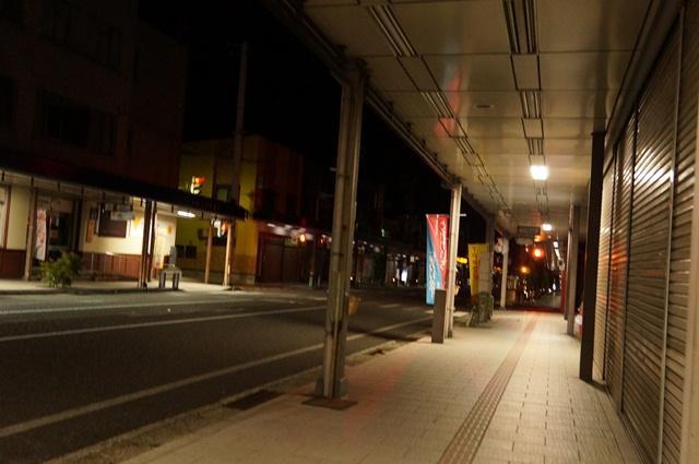 夜の国道117号