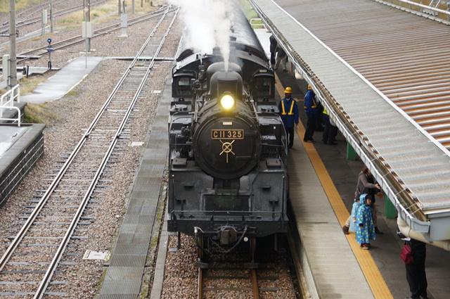 十日町駅に着いたC11 325号機