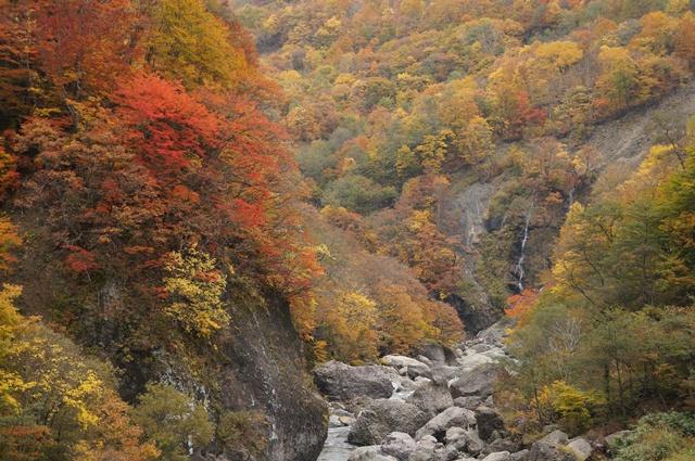 秋山郷 切明の渓谷美