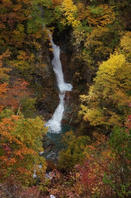 蛇淵の滝の紅葉