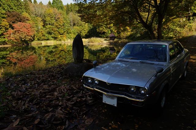 マツダルーチェと弁天池の秋