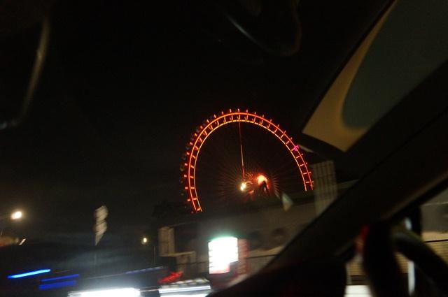 西武園遊園地の夜
