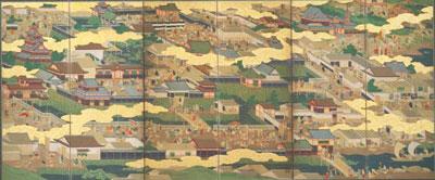 京・大坂図屏風
