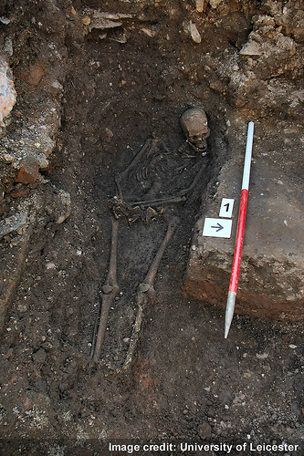 Richard III in the grave