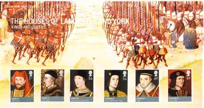 記念切手:ランカスター家とヨーク家 Lancaster and York