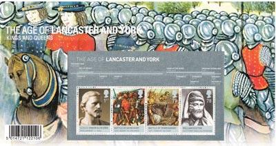 記念切手:ランカスター家とヨーク家 Lancaster and York Miniature Sheet