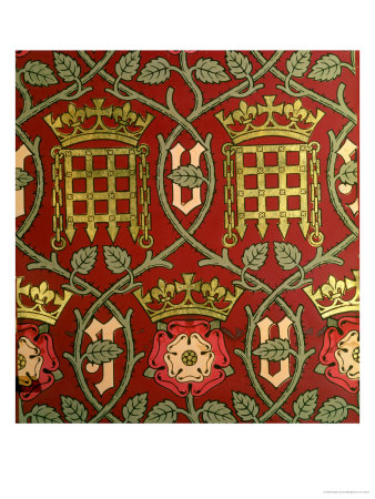 Tudor Rose, Reproduction Wallpaper