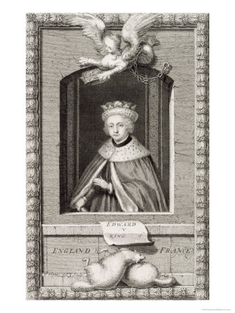 Edward V King of England in 1483, after a Portrait in a Book, Engraved by George Vertue