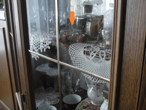 ポーランドの家庭にある食器棚