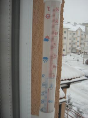ポーランドはマイナス気温