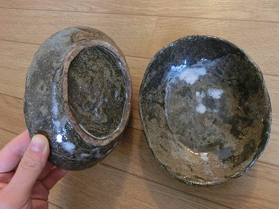 楕円中鉢(古美濃山土ハーフ)