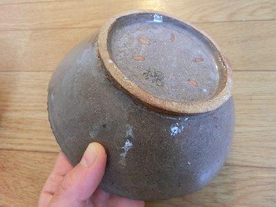 中鉢(古美濃山土)裏