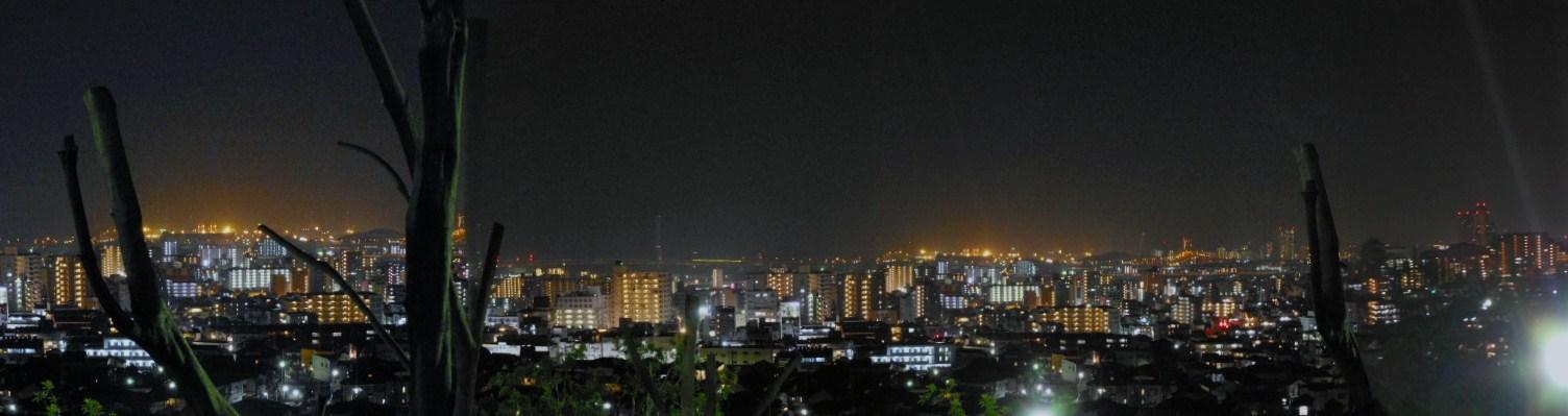 岡本梅林 夜景パノラマ 1
