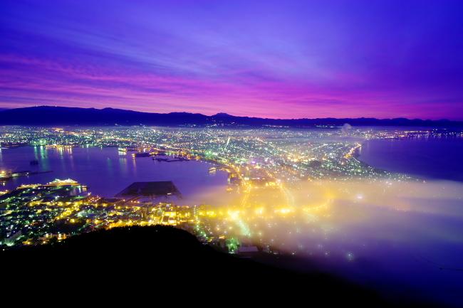 函館夜明け